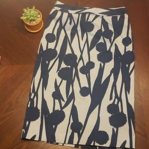 Boden Blue and Gray Dandelion Pencil Skirt size 4L